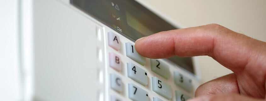 Keypad for one of our intruder alarms in Southampton.